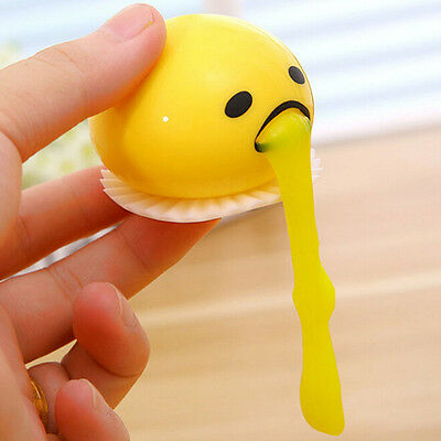 New Yellow Vomiting & Sucking Lazy Egg Vent Stress Relief Egg Yolk Toy Gift  SN
