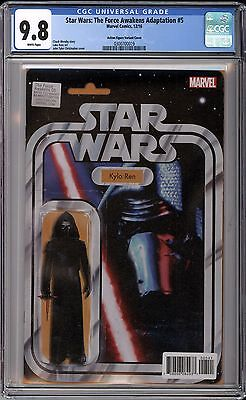 Star Wars The Force Awakens #5 Kylo Ren Action Figure Variant CGC 9.8 Free Ship!