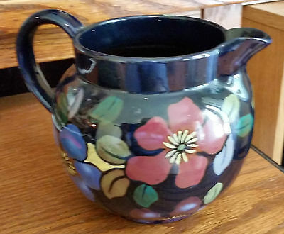 Vintage Royal Stanley Ware England Jacobean Pitcher w/Hand Painted Flowers