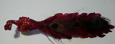 Red Peacock Christmas ornament (15 inc)
