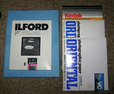 Ilford 8 x 10 Multigrade III RC Deluxe 100 Sheets Plus Seagull Select Kodak Poly