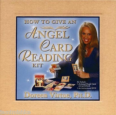 How To Give An Angel Card Reading Kit. Oracle Cards, Guidebook & Dvd Included