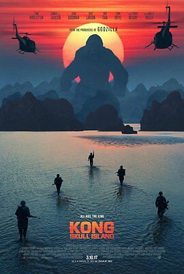 KONG: SKULL ISLAND 27x40 DOUBLE SIDED LARGE MOVIE POSTER-TOM HIDDLESTON