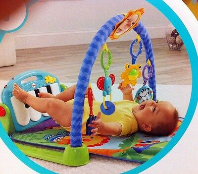 New baby Fisher-Price Kick and Play Piano Gym playing mat
