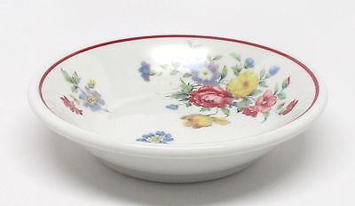 Vintage Shenango - Pasadena with Red Trim - Fruit Dessert Bowl - Restaurant Ware