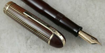 Restored Dubonnet Red Eversharp Skyline Fountain Pen
