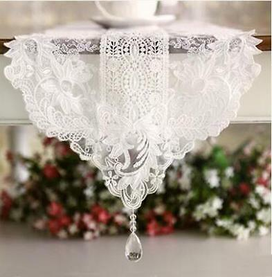 Ivory Piano Runner 3D Guipure Embroidery Table Runner Wedding Decor Lace Runner