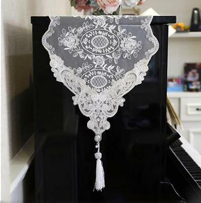 Vintage Guipure Floral Lace Piano Runner Wedding Lace Table Runner Home Decor