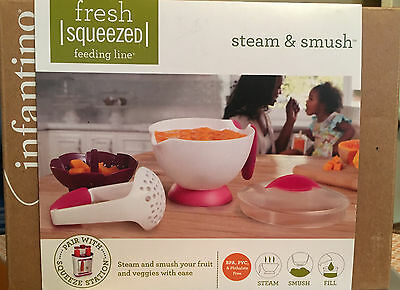 INFANTINO Fresh Squeezed STEAM & SMUSH Baby Food Prep BPA, PVC & Phthalate free