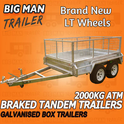 10x5 TANDEM AXLE BRAKED BOX TRAILER  HEAVY DUTY GALVANISED  ATM 2000KG