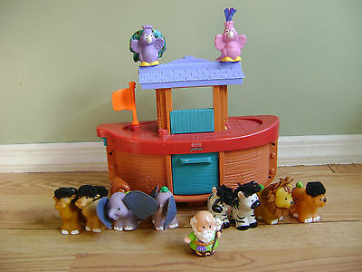Fisher Price Little People Noah's Ark With Noah & 5 Touch N' Feel Animal Pairs