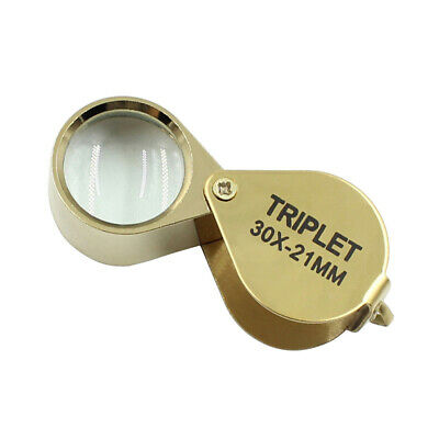 Foldable Jeweller 30x 21mm Zoom Pocket Microscope Jewelry Magnifier Loupe