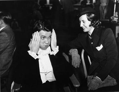 Barbara Stanwyck And Funny James Stewart   8X10 Photo  S-28