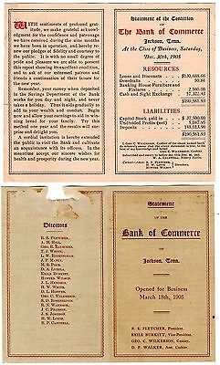 Bank of Commerce Jackson Tennessee Archive Photos, Bank Statements Opening Early