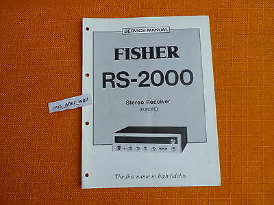 SERVICE MANUAL Fisher RS 2000 english Service Anleitung
