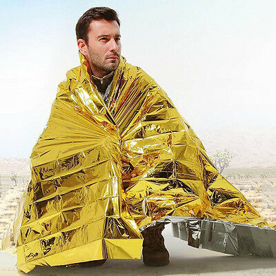 Outdoor Portable Folding Mylar Thermal Heat Camping Insulation Emergency Blanket