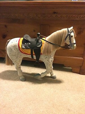 American Girl Saige Horse PICASSO With Parade Saddle Set EUC RETIRED