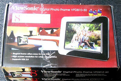 viewsonic vfd810 50 8 high resolution 800x600 digital photo frame free ship