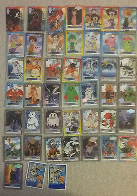 44 Animated Series Digimon Trading Cards.
