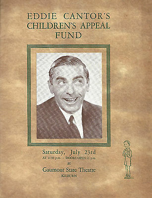 """Paul Robeson """"EDDIE CANTOR'S CHILDRENS APPEAL FUND"""" Beatrice Lillie 1938 Program"""