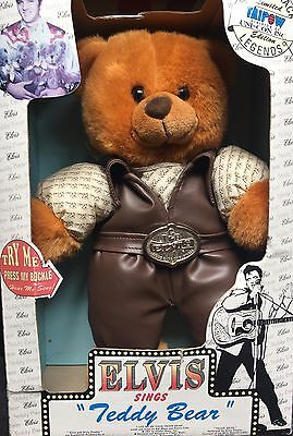 """1994 New In Box Rare Elvis Presley Musical Singing Teddy Bear 14"""" Collectable"""