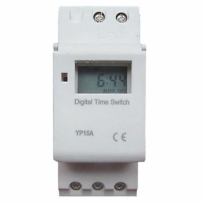 THC 16A AC 220V Digital LCD 7-Day Programmable Timer Time Relay Switch