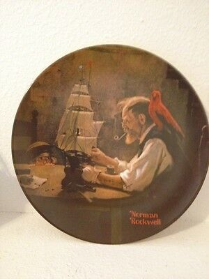 "Norman Rockwell ""The Ship Builder"" Collector's Plate 8 3/4"""