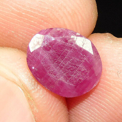 3.00Cts 100% NATURAL RUBY CUT OVAL CABOCHON LOOSE GEMSTONE DSC-4