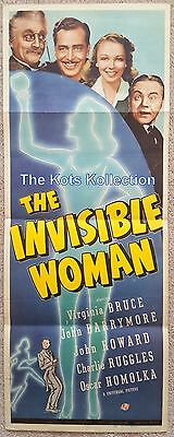 THE INVISIBLE WOMAN-Virginia Bruce/John Barrymore/Universal-14 x 36-Poster-1940