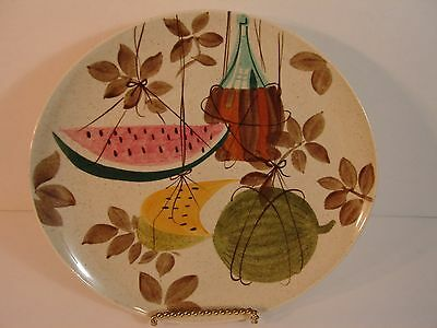 "Futura Dinner Plate in Tampico by Red Wing 10 3/4"" Upside Down Ink Stamp"