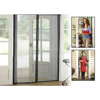 Mesh Door Curtain Magnetic Magic Snap Fly Bug Insect Mosquito Screen Net Guard