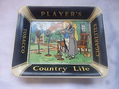 Vintage Players Country Life Tobacco Cigarettes Dish Ashtray