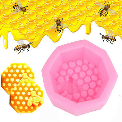Bee Hive Silicone Fondant Candle Mould Cake Decor Sugarcraft Handmade Mold
