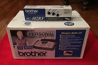 NEW Brother Personal Plain Paper Fax & 2 Refills