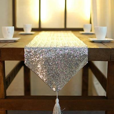 Sequin Beaded Wedding Table Runner Shiny Sparkled Table Runner Home Decoration
