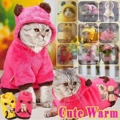 New Hoodie Cute Dog Clothes Pet Jacket Coat Puppy Cat Soft Warm Apparel Winter