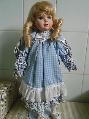 Pretty Porcelain Girl Doll 43 Cm Tall Xmas Gift?