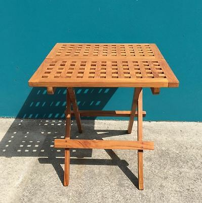Outdoor Furniture Solid Teak Folding Oiled Picnic Table 50cm