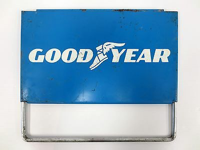 """Vintage Goodyear Metal Sign, Goodyear Tires and Oil Advertising Sign, 15 X 9"""""""