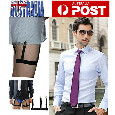 Pair Men Shirt Stays Holder Garter Suspender Military Uniform Non-slip Locking