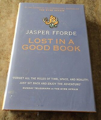 Lost in a Good Book Jasper Fforde (1st Ed HB 2002) - Signed, Bookmark, Postcard