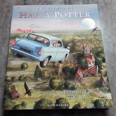 Harry Potter and the Chamber of Secrets - illustrated (HB 2016) 1st/1st SIGNED