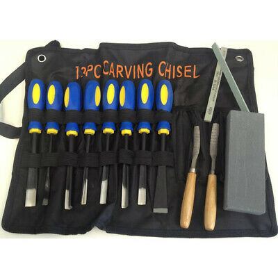 NEW 13pc Wood Carving Chisel Set from Hobby Tools Australia