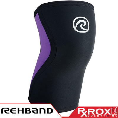 Rehband RX Line Knee Support | 3mm | Purple | CrossFit Weightlifting Sleeves