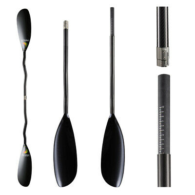 ZJ SPORT Hot Sale Full Carbon Fiber Kayak Paddle In Extra Small Blade Oval Shaft