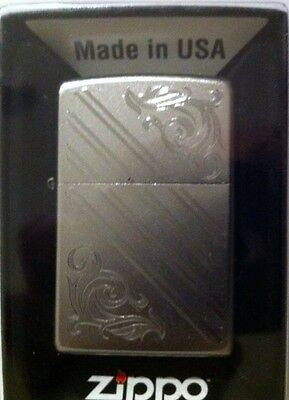 Zippo The perfect gift Etched Chrome Fancy Engraving Bid Good Luck