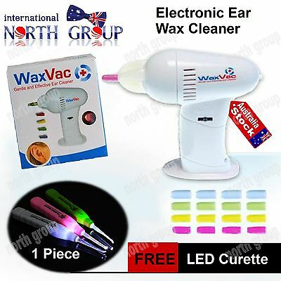 Cordless Ear Health Wax Vac Cleaner Remover Safe Hygenic Vacuum Suction Tips