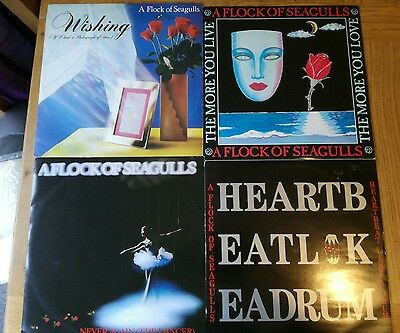 """A Flock Of Seagulls  4 X 12"""" Singles Uk Issues 1982 To 1986"""