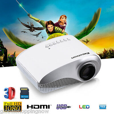 Mini HD LED/LCD Projector Home Multimedia Theater HDMI For Tablet PC Smartphone