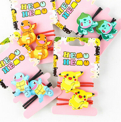 Hot Pokemon Girls Cute Hair Accessories Rope Band Elastic Hair Bobble Tied Ring